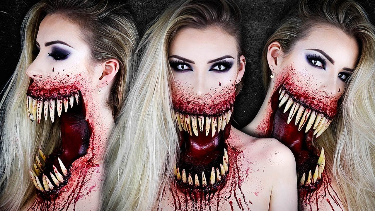 Giant Monster Mouth HALLOWEEN Makeup