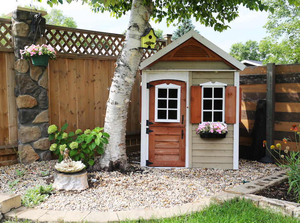 Outdoor Wooden Playhouse (7)