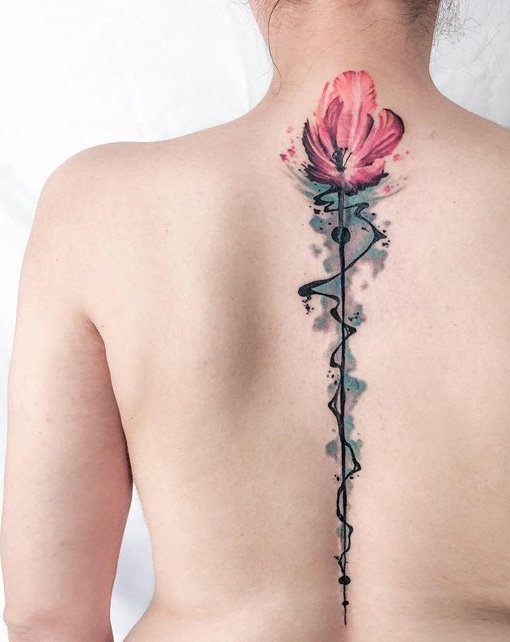 Spine Tattoo (19)