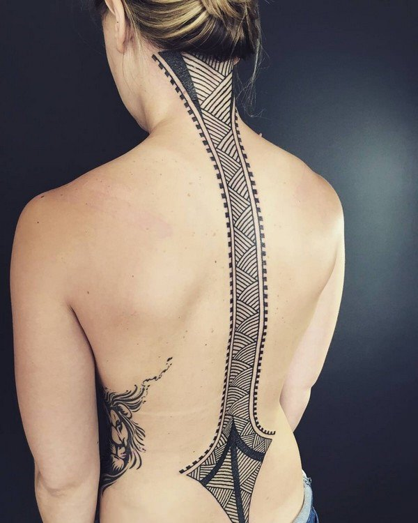 Spine Tattoo (20)
