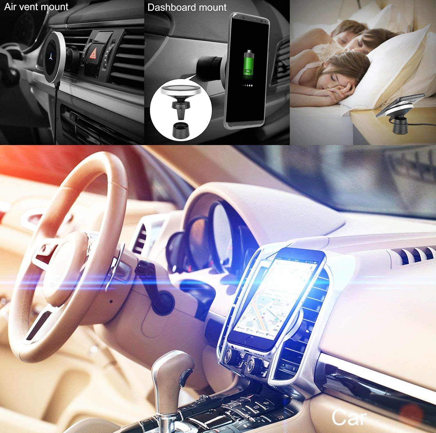 Newgam Qi Magnetic Wireless Car Charging