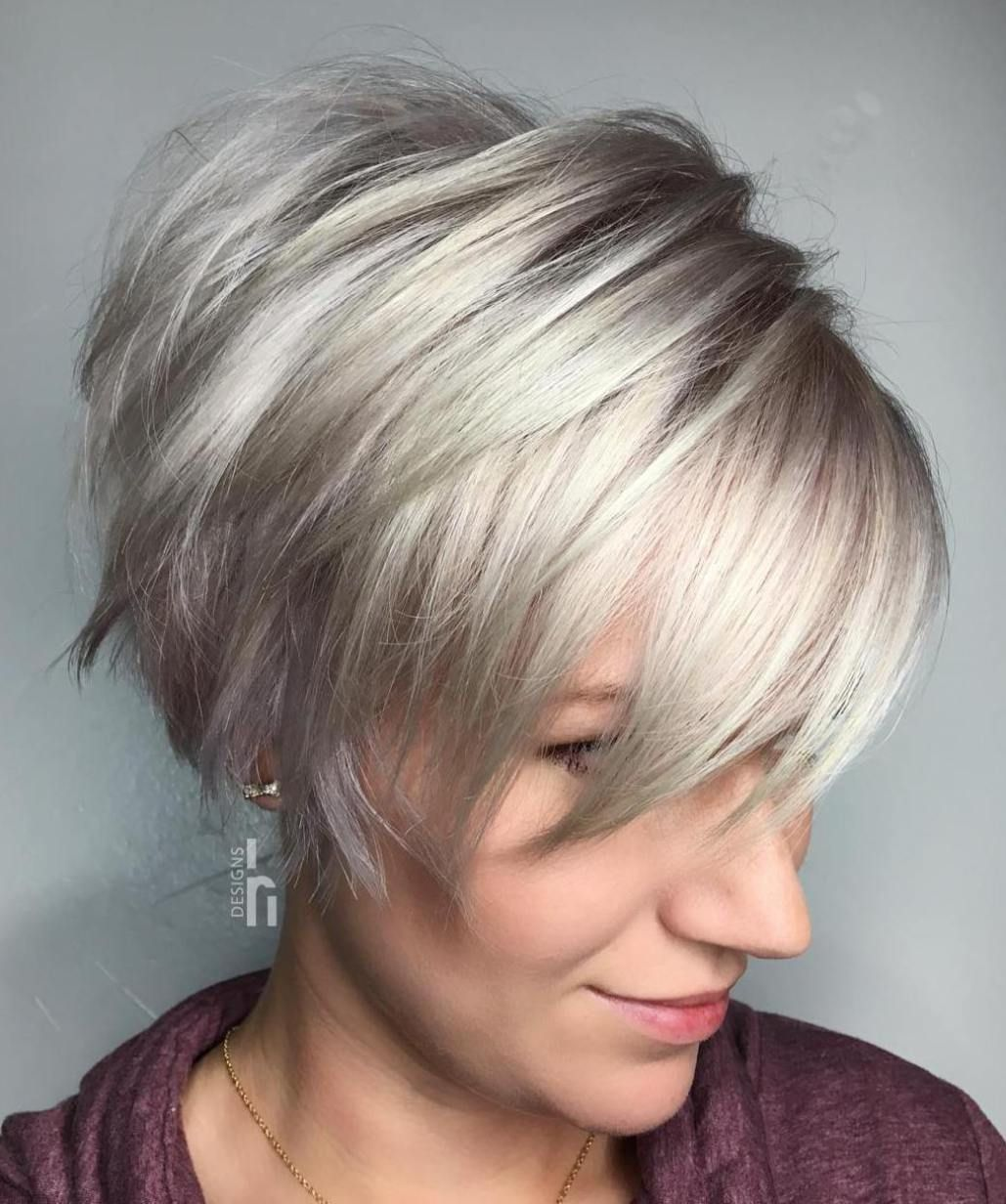 Voluminous Gray Pixie Cut