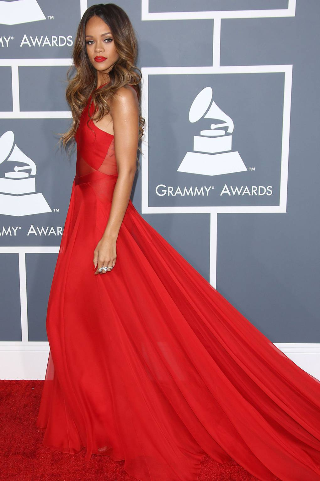 Azzedine Alaia at the Grammy Awards- 2013