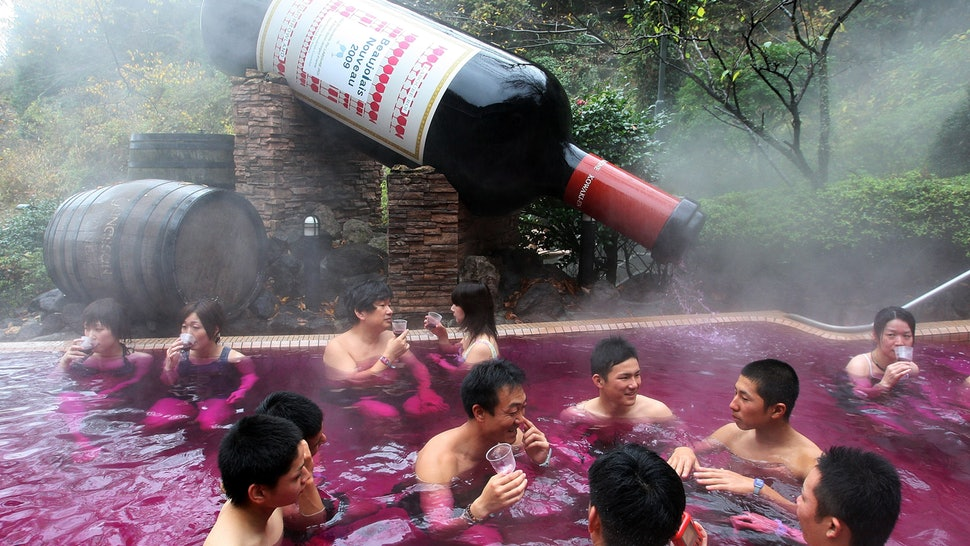 Is red wine really used in spa