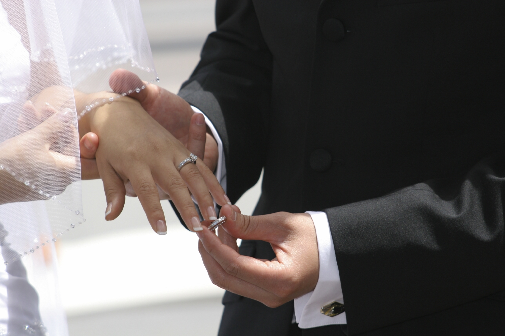 Exchanging Rings During the Ceremon