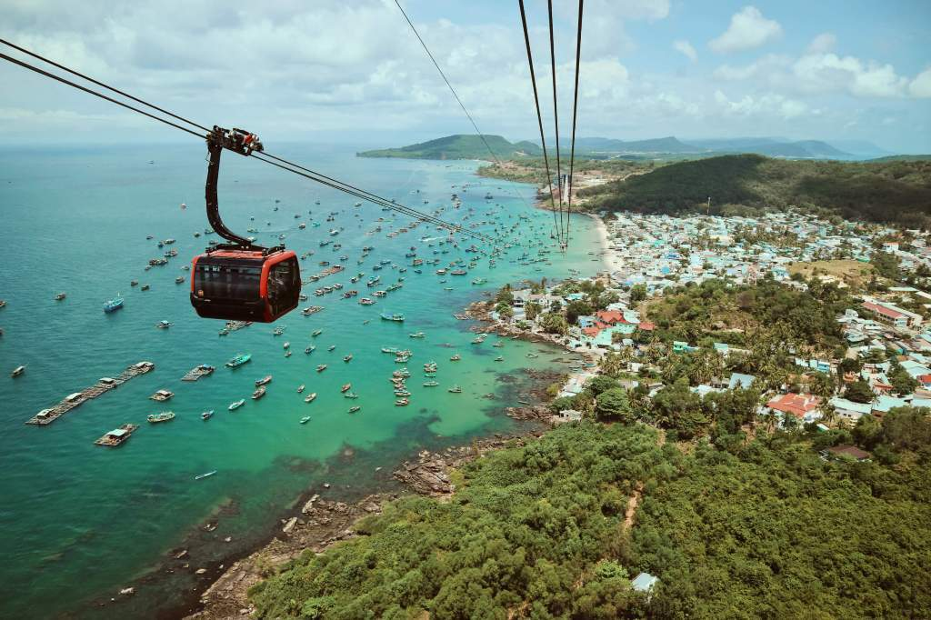 Enjoy spectacular views from the world's longest oversea cable car