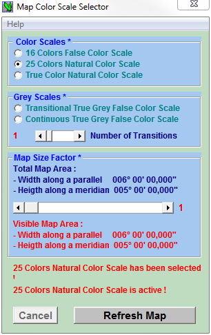Map Color Scale Selector