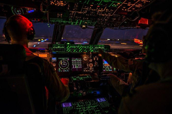 Part of plane cocpit