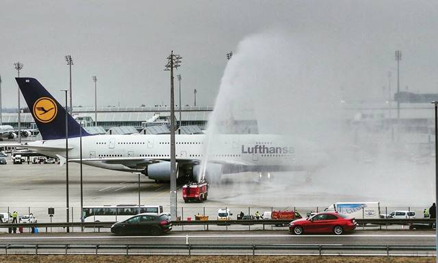 water salute aviation