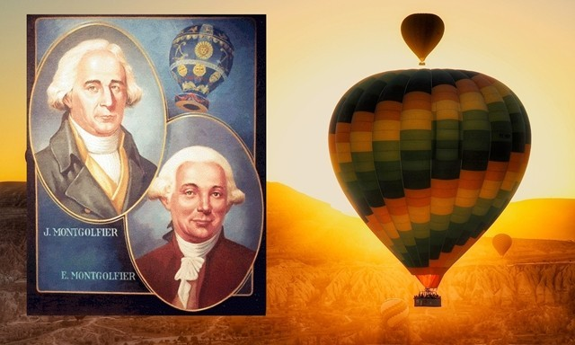 mongolfier brothers hot air baloon