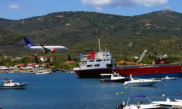Skiathos island plane spotting