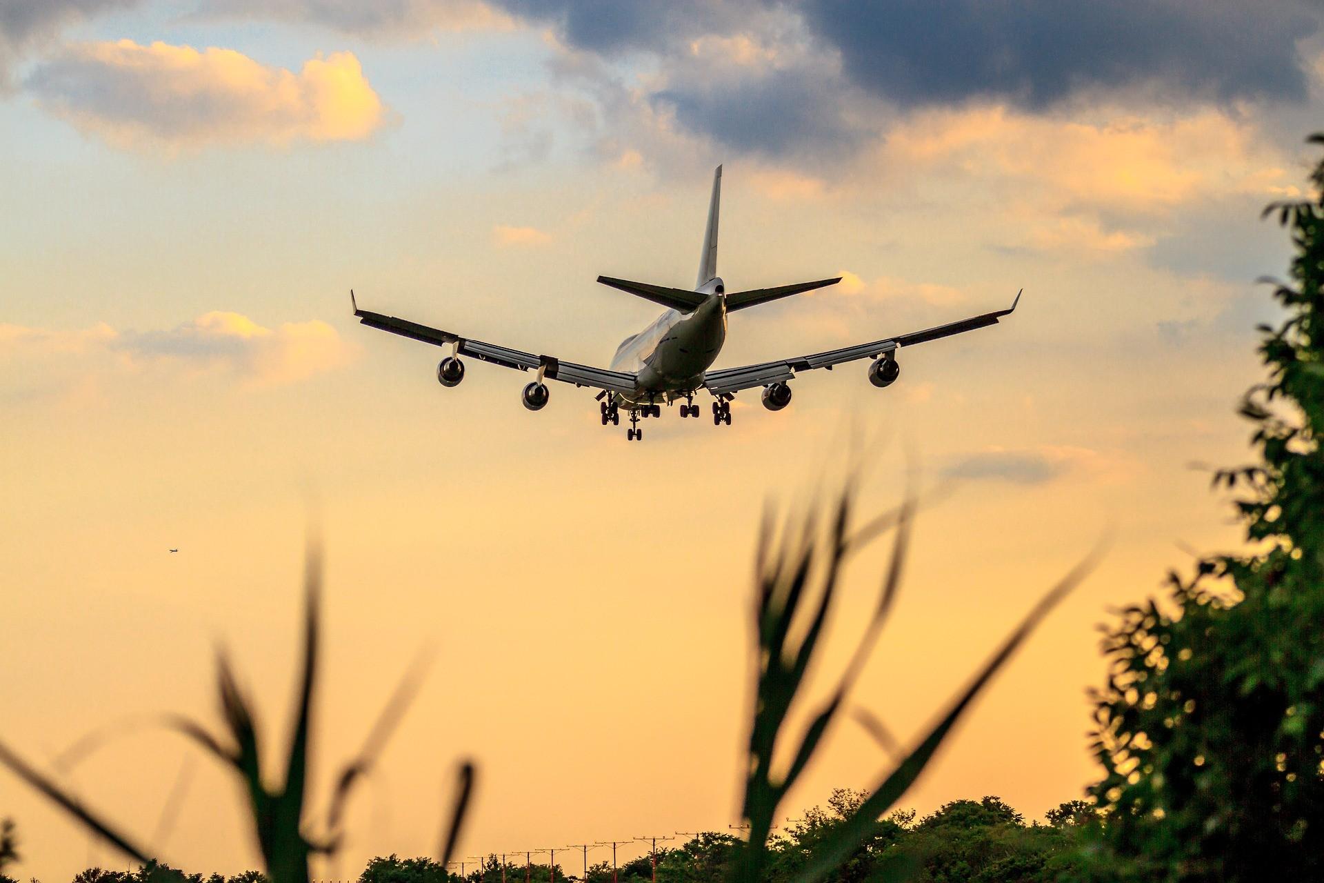 landing plane view