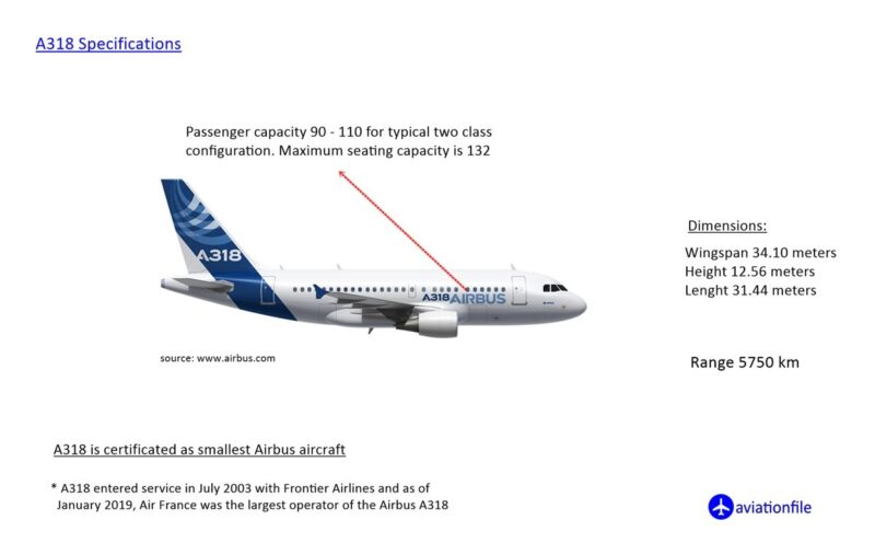 A318 specifications