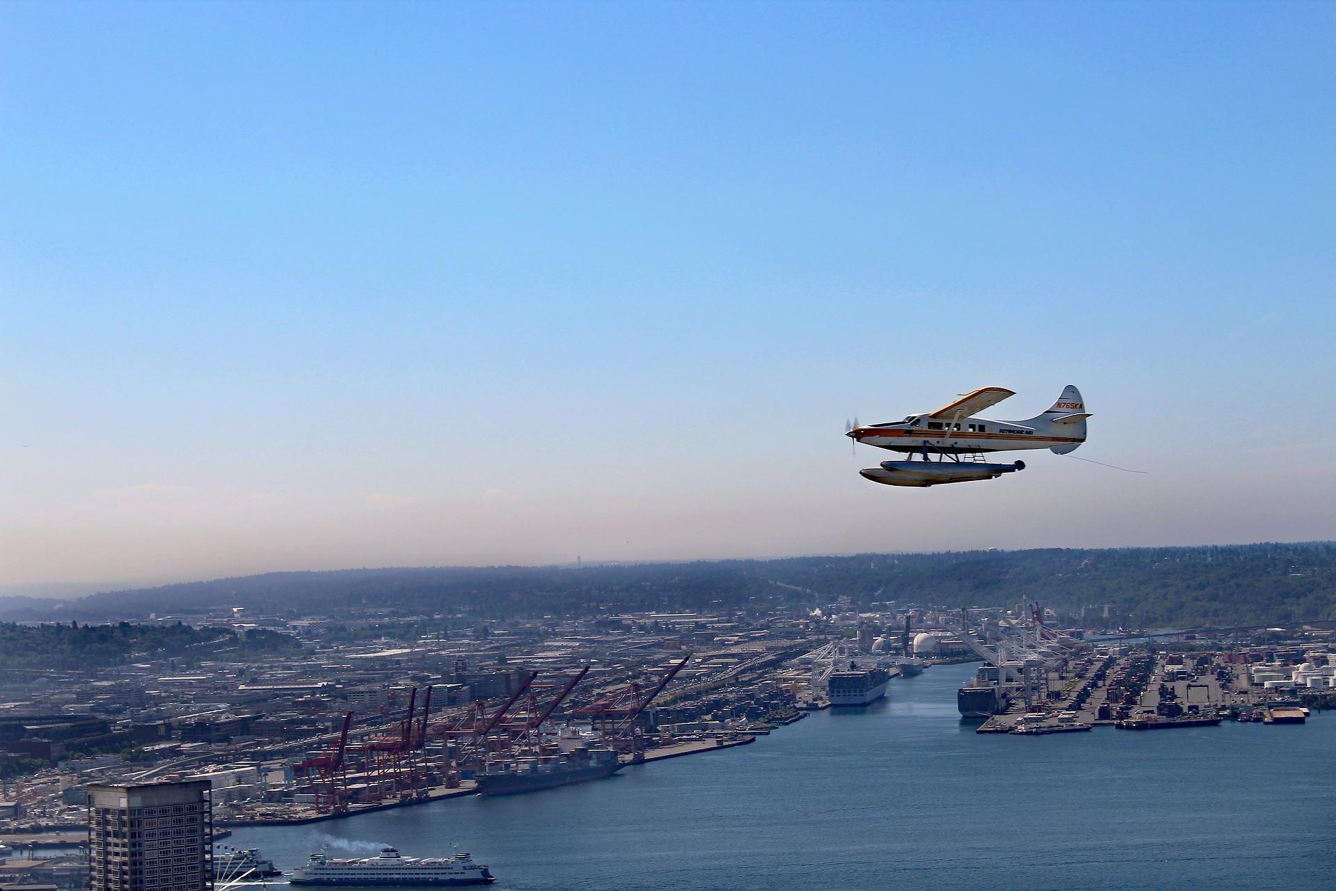 aircraft city view