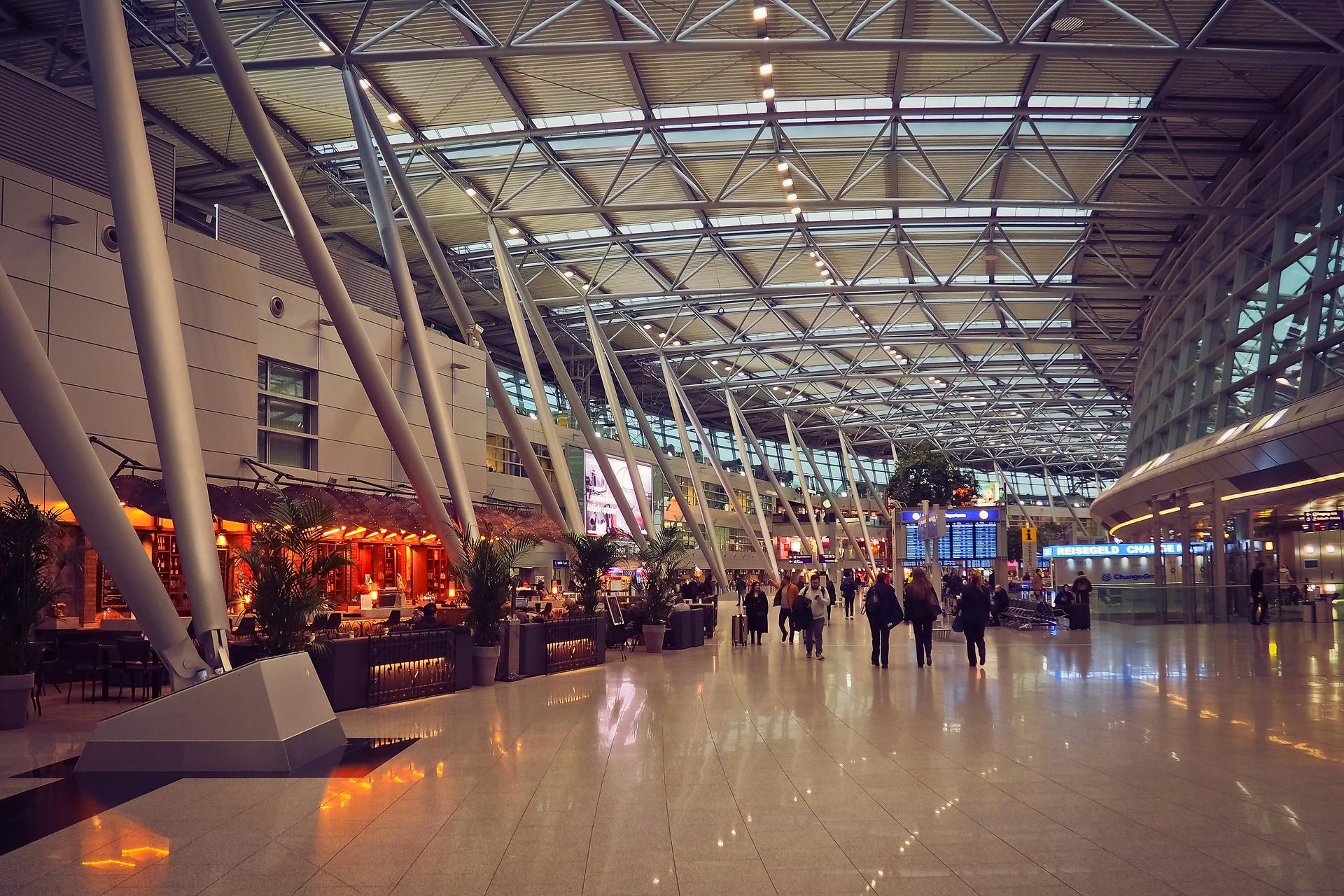 airport terminal view