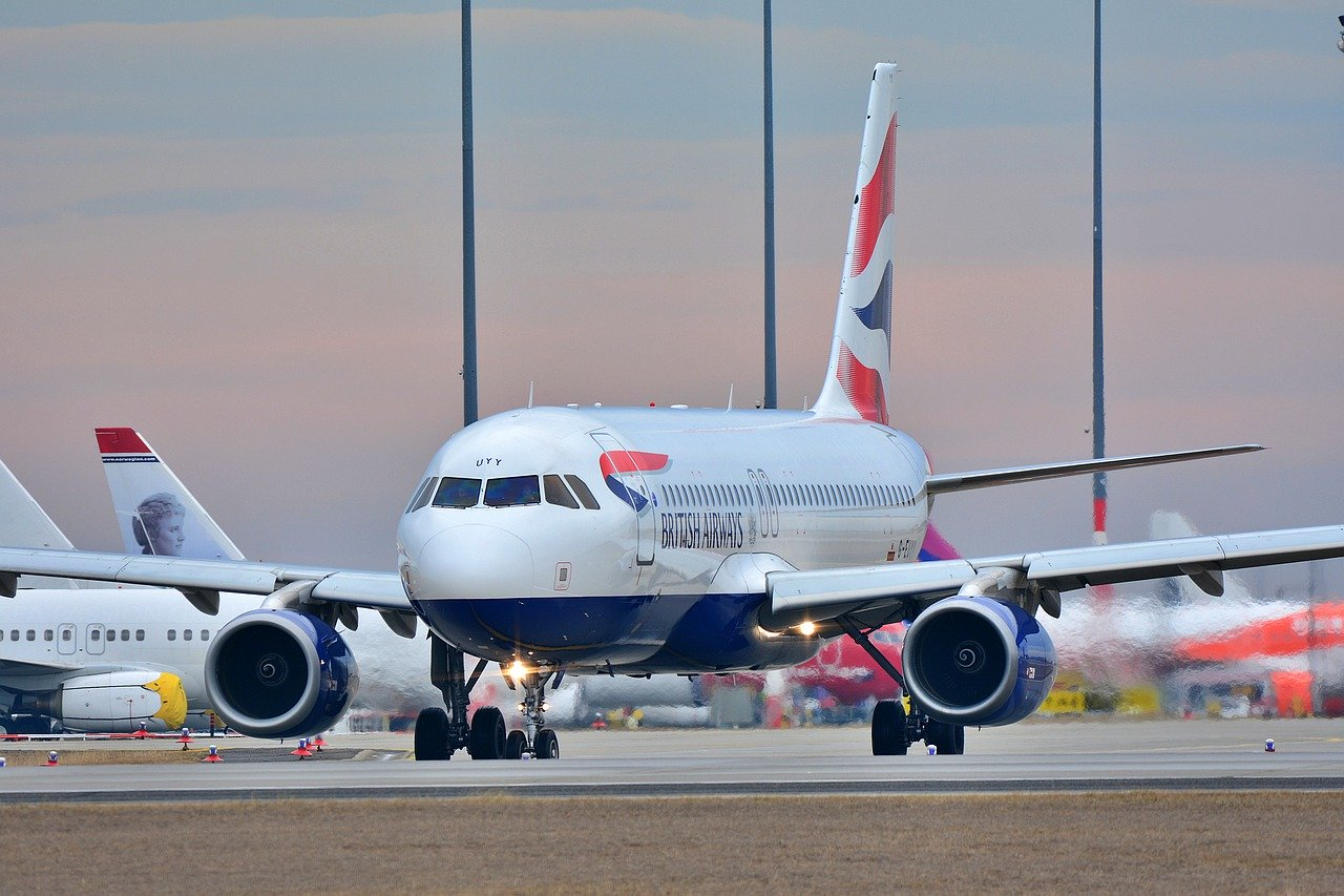 British Airways taxiing
