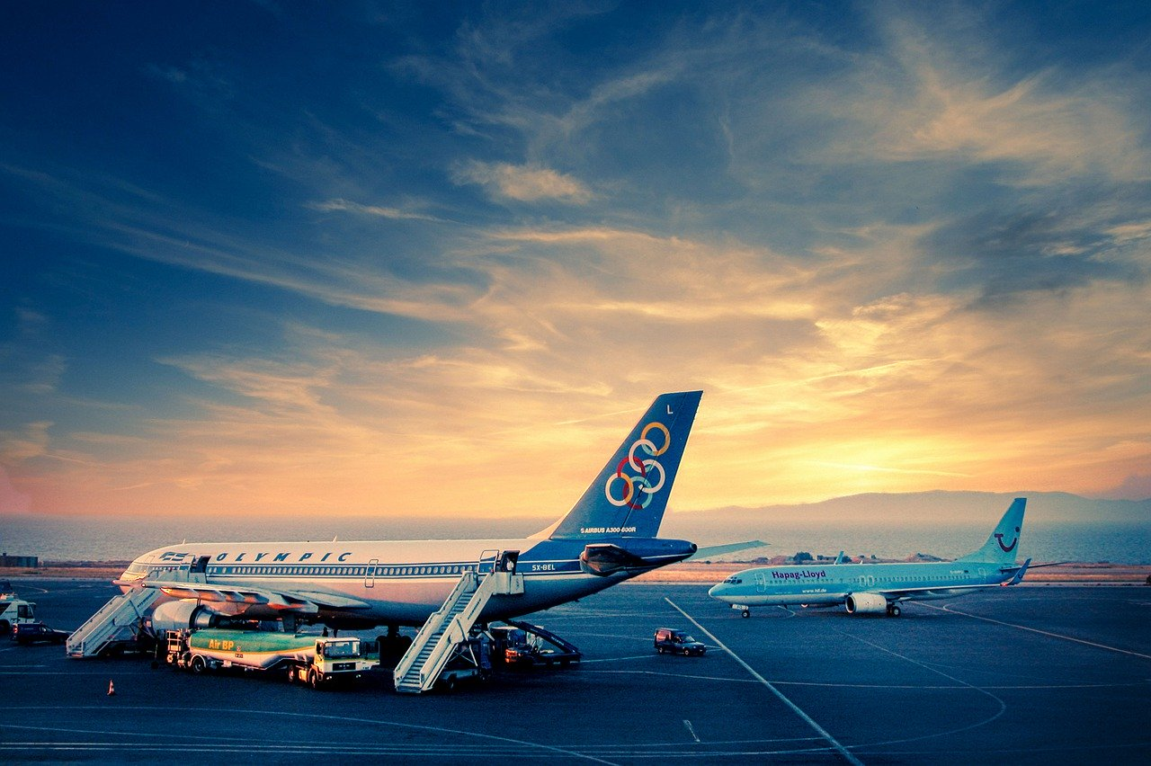 Aircraft-Apron-Sunset
