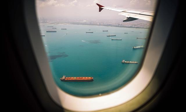 Holes at airplane windows