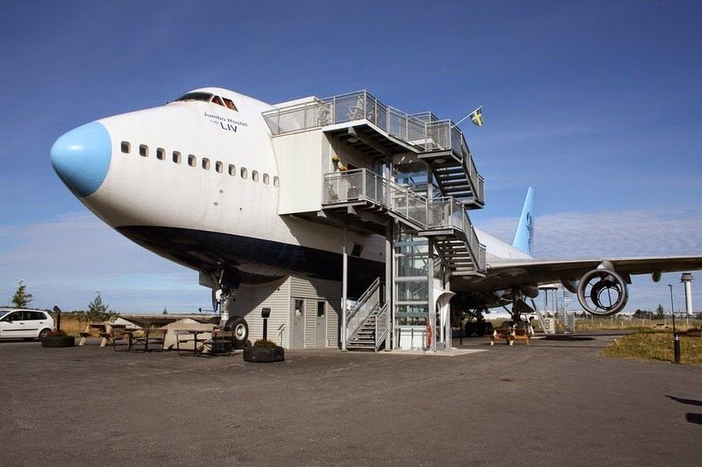 Jumbo Hostel stockholm retired aircraft
