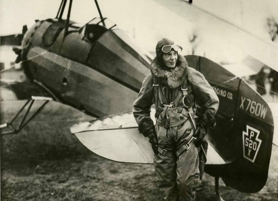 First woman to fly across the Atlantic Ocean-Amelia Earhart