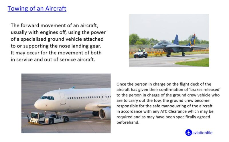 towing of an aircraft