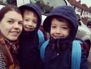 Twins start school