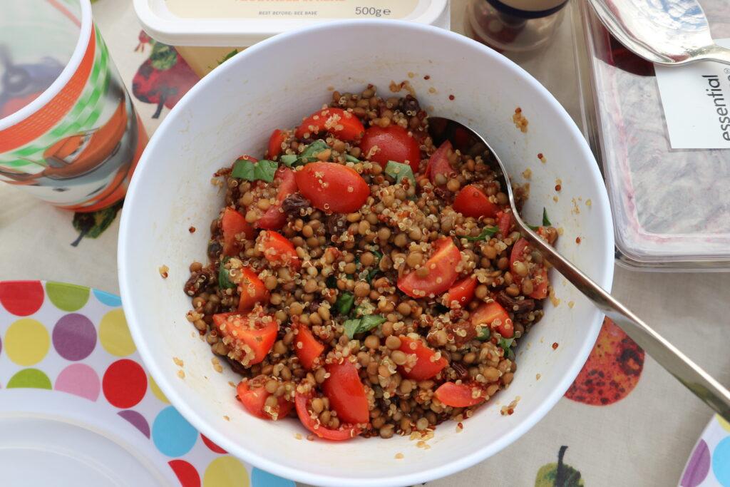 Lentil & quinoa salad