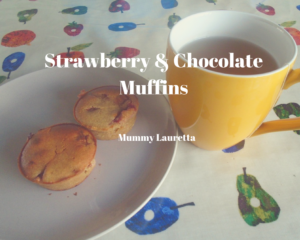 Strawberry & Chocolate Muffins Vegan
