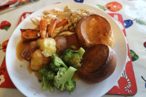 Roast dinner with perfect yorkshire puddings