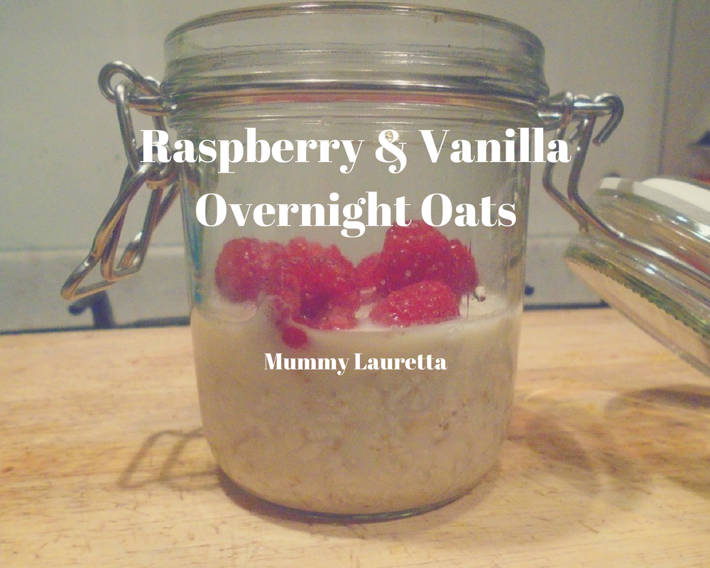 Raspberry & Vanilla Overnight Oats blog