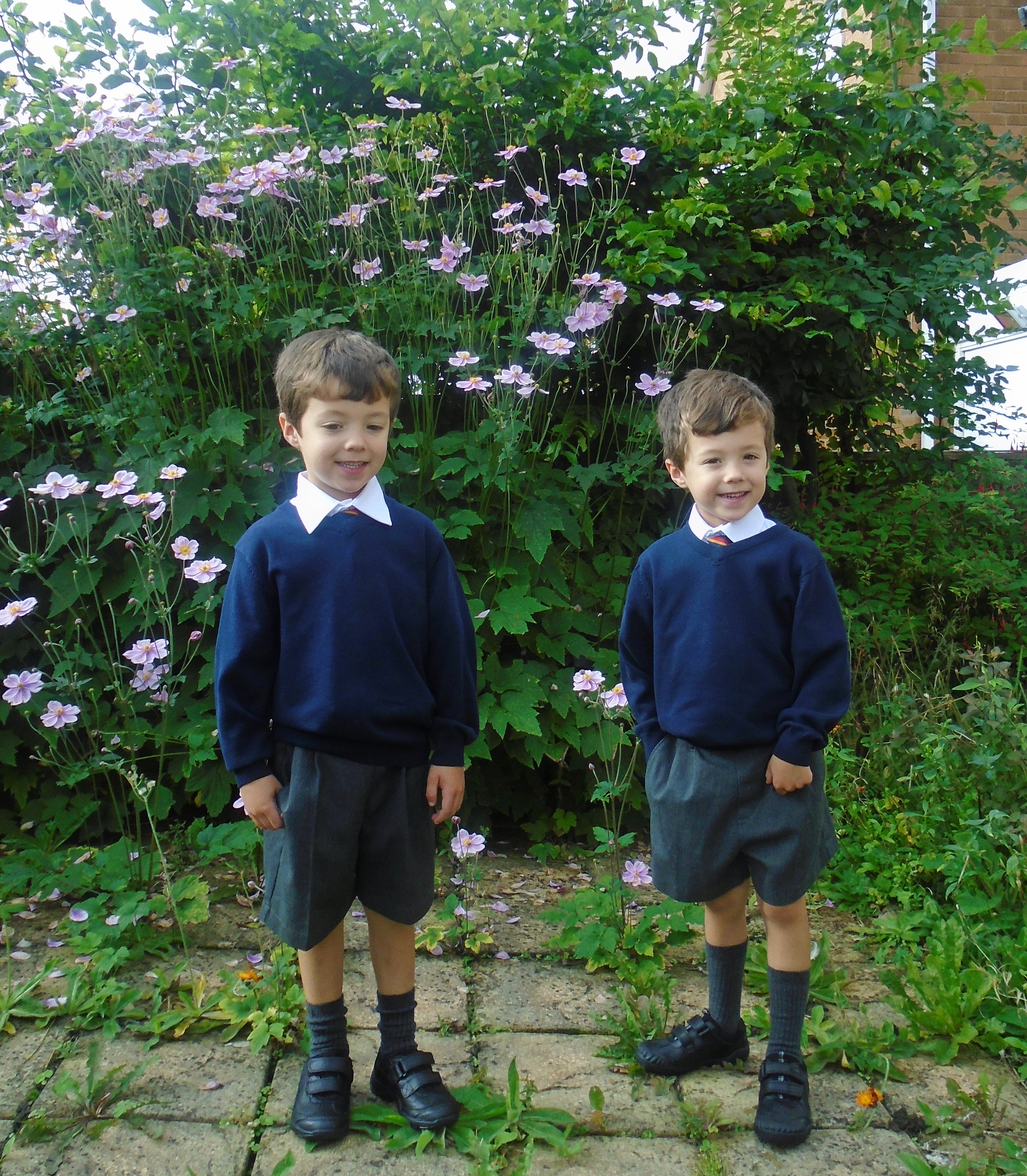 Getting twins ready to start school