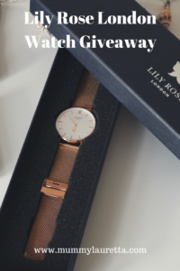 Lily Rose London Watch Giveaway Pin