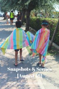 Snapshots & Scenes August 18 Pin