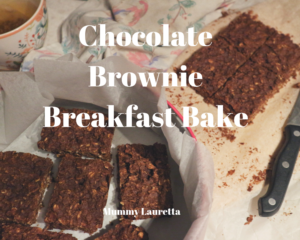 Chocolate Brownie Breakfast Bake