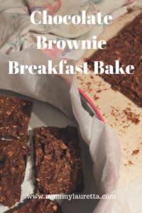 Chocolate Brownie Breakfast Bake Pin