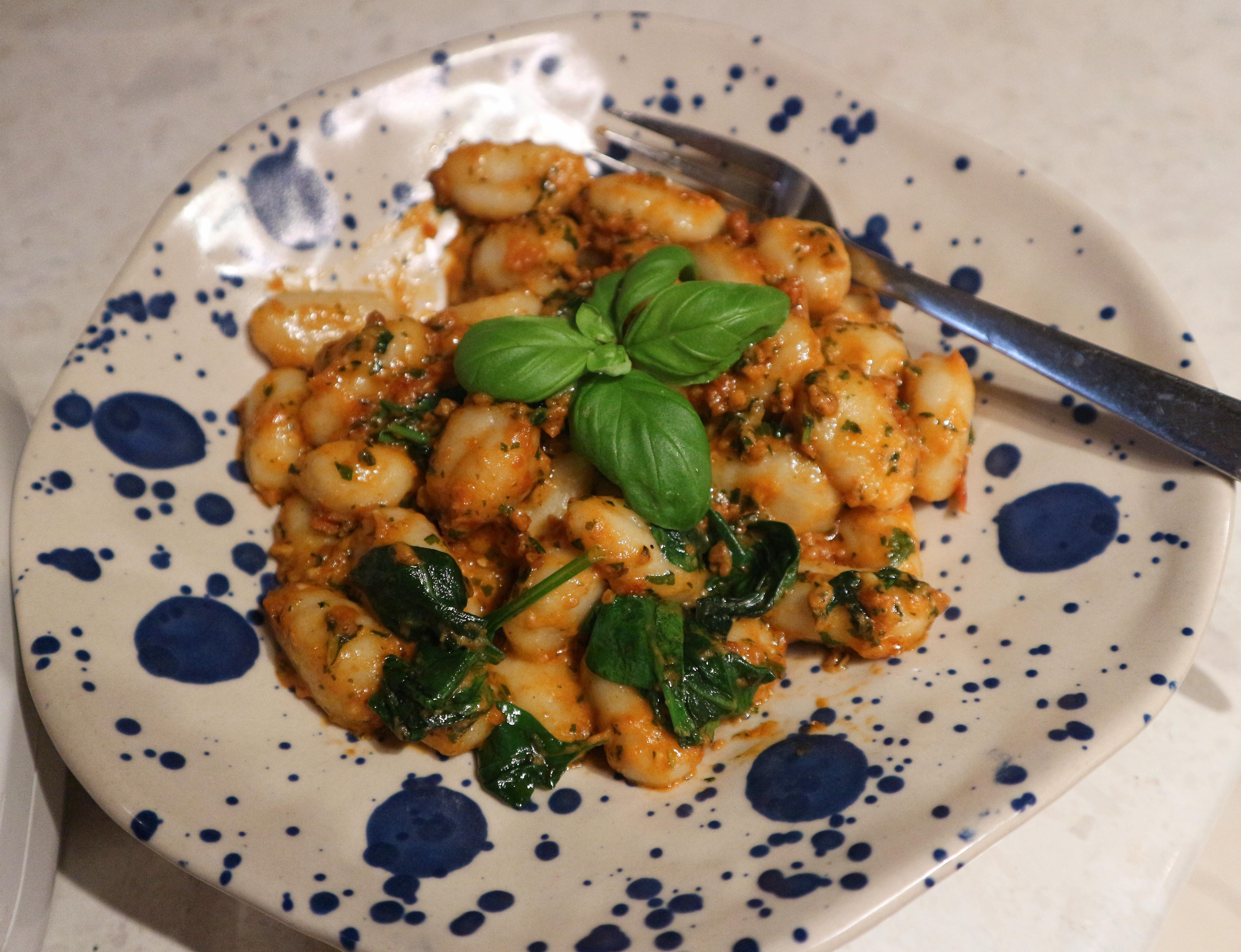 Creamy Tomato Pesto Gnocchi