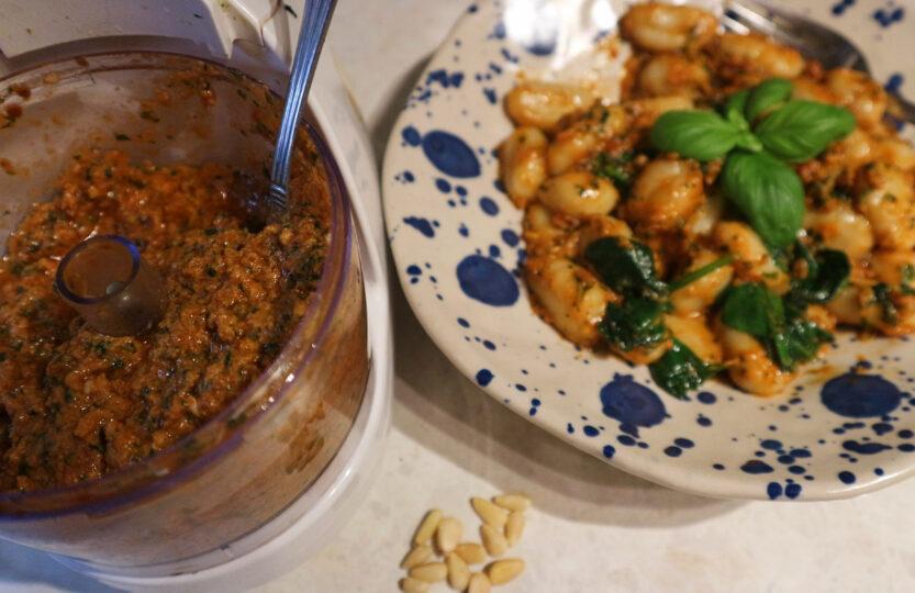 Creamy Red Pesto Gnocchi
