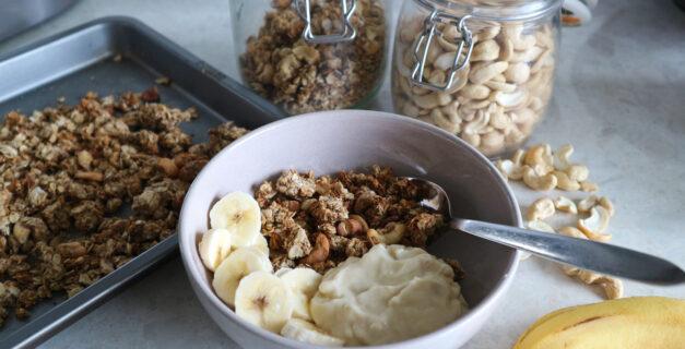 Banana & Cashew Granola