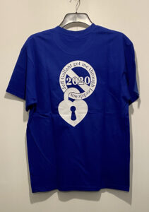T - Shirt Special Edition Lockdown 2020 - Blue - Rear View