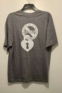T - Shirt Special Edition Lockdown 2020 - Grey - Rear View