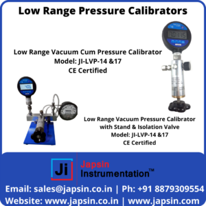 Low Range Pressure Calibrators