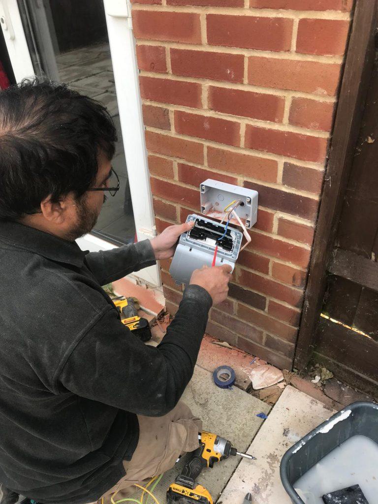 External socket installation in Watford