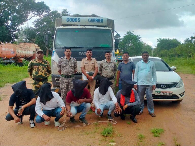 राष्ट्रीय महामार्गावर दरोडा घालणारे  5 आरोपींना 2 तासात अटक करुन 22 लाख 23 हजार रुपयांचा मुद्देमाल जप्त