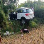 भरधाव कार झाडावर आदळून झालेल्या अपघातात एक ठार, तर चार जण गंभीर जखमी