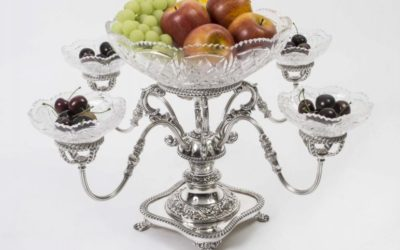English Silver Plate Epergne Centrepiece