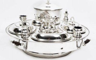 Lazy Susan Silver Plated Tray