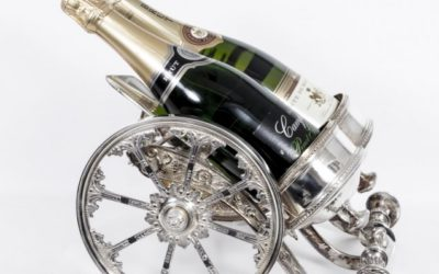 English Silver Plate Wine Holder Cannon