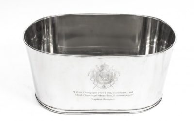 Large Silver Plated Ice Bucket Champagne Cooler