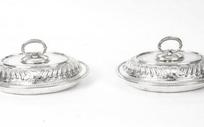 Antique Silver Entree Dishes – Mappin Brothers c.1850