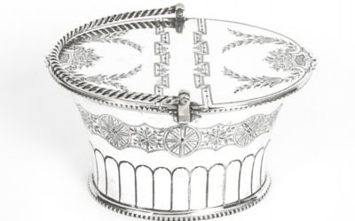 Antique Victorian Silver Plated Sweet Basket 19th C